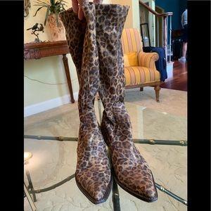 Donald J. Pliner microsuede leopard print boot